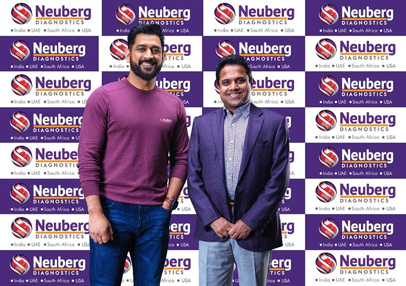 Neuberg Diagnostics partners with MS Dhoni to send the message of health and wellness